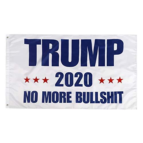YUIOP Latest Upgrade Trump Flag No More Bullshit Donald Trump Flag President 2020 Great Flag 3x5 Feet UV Anti-Fading Trump Flag Brass Grommets The 45th U.S. President Election