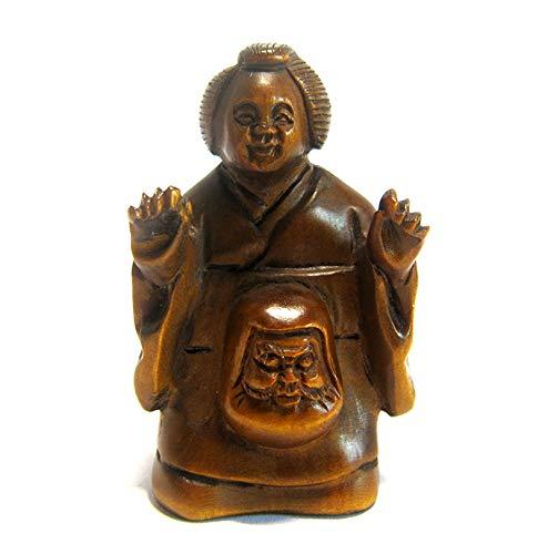 XG Inc Y5078-2 Hand Carved Boxwood Netsuke Carving Figurine: Devil Woman Onibaba ()