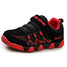 DADAWEN Boy's Girl's Children Sneakers Casual Magic Strap Running Shoes (Toddler/Little Kid/Big Kid)