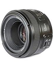 Yongnuo YN50 mm Nikon - lens voor camera's DSLR (F/1.8, 58 mm, AF/MF), zwart