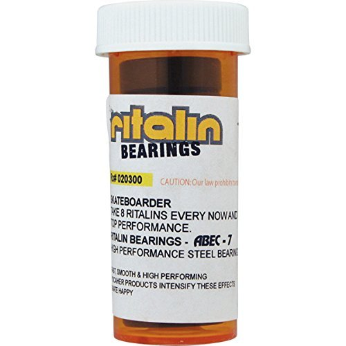 Ritalin Bearings Abec 7 Chrome Skateboard Bearings by Ritalin Bearings