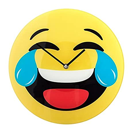 Amazon smiley clock crying laughing emoji home kitchen smiley clock crying laughing emoji sciox Gallery