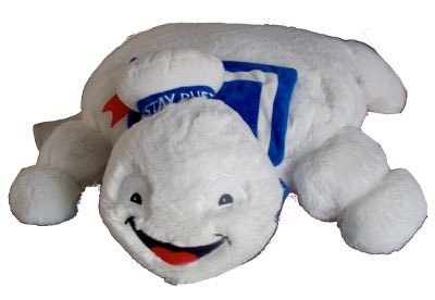 Ghostbusters Stay Puff Marshmallow Man Plush Reversible Figure Pillow]()