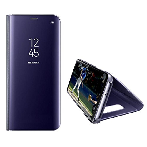 (Coohole Fashion Smart Window Sleep Wake UP Flip Leather Case Cover For Samsung Galaxy S7 / S7 Edge (Purple, S7 Edge))