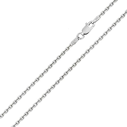 (CloseoutWarehouse Sterling Diamond Cut Cable Rolo 035 Chains 1mm)