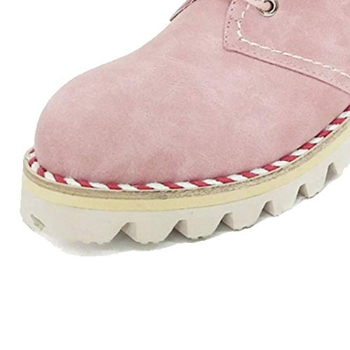Femmes Mode Antidérapant Pour Portable Chaussures Dentelle Casual Pink Zqzq F0EwqA