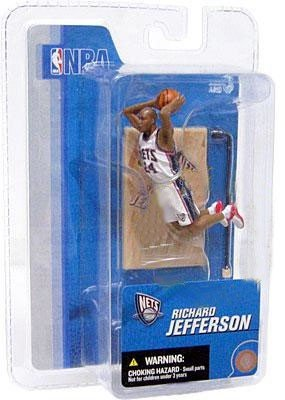RICHARD JEFFERSON NEW JERSEY NETS McFarlanes NBA Sports Picks Series 3 Mini Figure /& Display Base 3 INCH