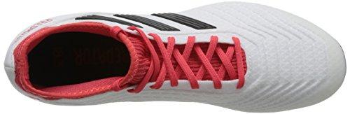 adidas Herren Predator 18.3 AG Fußballschuhe Weiß (Footwear White/Core Black/Real Coral)