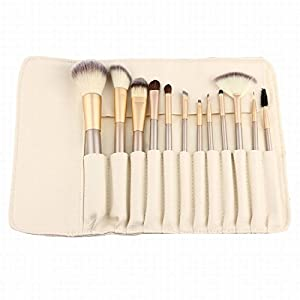 AMarkUp 12 Pcs Makeup Brushes Set Professional Cosmetics Foundation Eyeshadow Eyeliner Brush
