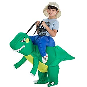 TOLOCO Inflatable Dinosaur T-REX Costume | Inflatable Costumes Adults| Halloween Costume | Blow Up Costume