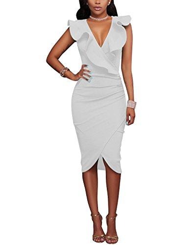 Gikim Vestito fasciante fasciante White Vestito Donna Gikim p5P5drq