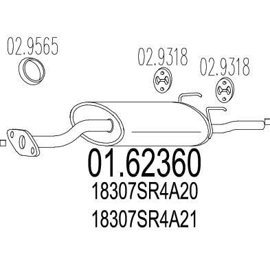 MTS Company 01.62360 Endschalld/ämpfer
