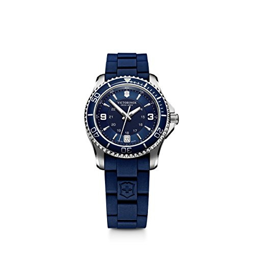 Victorinox Women's 'Maverick' Swiss Quartz Titanium and Rubber Casual Watch, Color:Blue (Model: 241610)