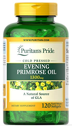 Puritans Pride Evening Primrose Oil 1300 Mg with Gla Softgels, 120 Count Review