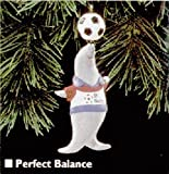 Seal with Soccer Ball on Nose with St. Nick's Team Shirt ''Perfect Balance'' Christmas Ornament - Hallmark Keepsake 1995 Series