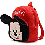Blue Tree Soft Plush Rad Micky School Bag for Travelling, Picnic, Gift Purpose (3-5 Years)
