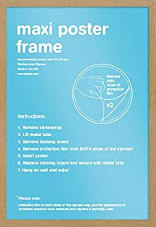Gb eye world map antique style maxi poster multi colour 61 x oak wood effect maxi poster frame 61cm x 915cm gumiabroncs Images