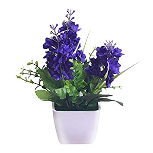 MARJON FlowersArtificial Hyacinth Fake Flower, DIY Silk Flower Small Potted Plant Flowers Wedding Bridal Decoration for Home Hotel Desktop Decoration Ornaments 16
