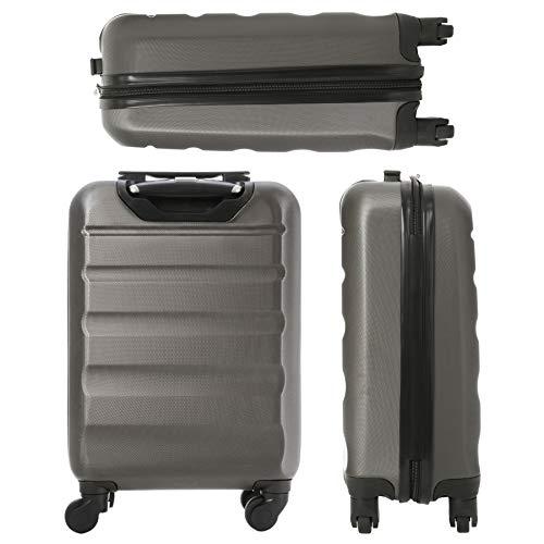 2 Cabina Aerolite Carbón X Viaje Equipaje 1 Concha plata De Maleta Dura 3 Mano Grande Piezas Conjunto 29