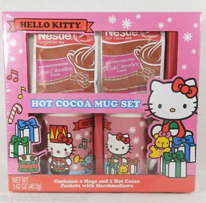 Hello Kitty Hot Cocoa Mug Set Ceramic for sale  Delivered anywhere in Canada