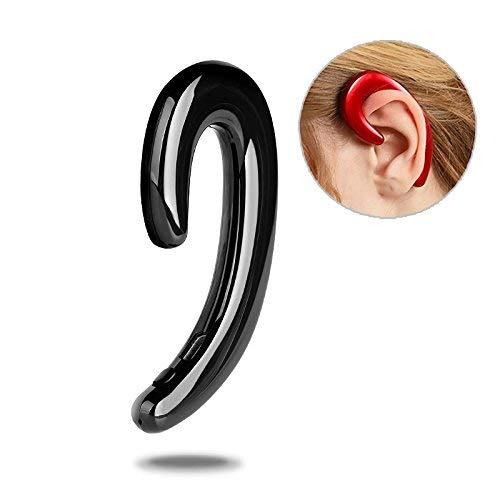 (RISHIL WORLD K8 Bone Conduction Earhook Wireless Bluetooth Earphone Noise Cancelling Stereo Headphone with Mic Single Item.)