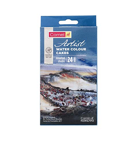 Camel Artist Water Colour Cake Set - Pack of 24 (Blue) (B07H1HP9YB) Amazon Price History, Amazon Price Tracker