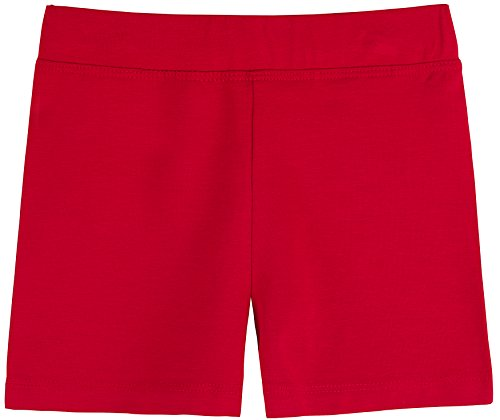 Lovetti Girls' Basic Solid Soft Dance Short for Gymnastics or Under Skirts 11 Red ()