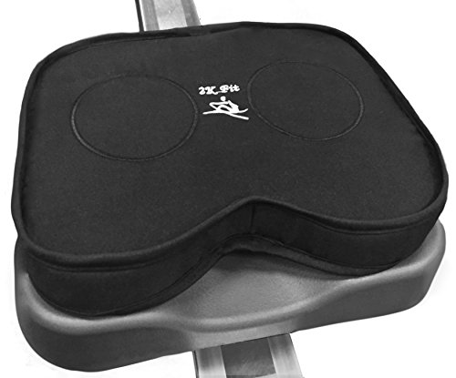 Rowing Machine Seat Cushion (Model A) That Perfectly fits Concept 2 with Thick Updated Dual Density Memory Foam and Washable Cover