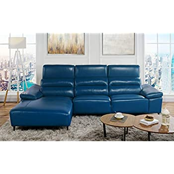 Amazon Com Leather Match Sectional Sofa L Shape Couch