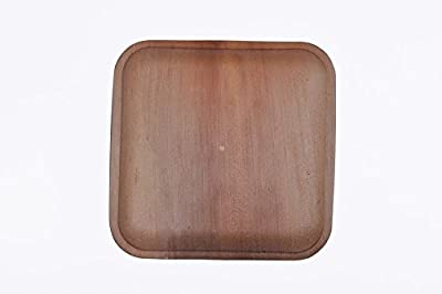 "7"" Flat Square Palm Leaf Plate"