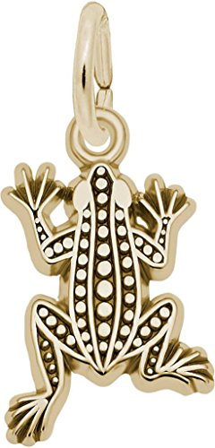 Rembrandt Flat Leopard Frog Charm - Metal - 14K Yellow Gold ()