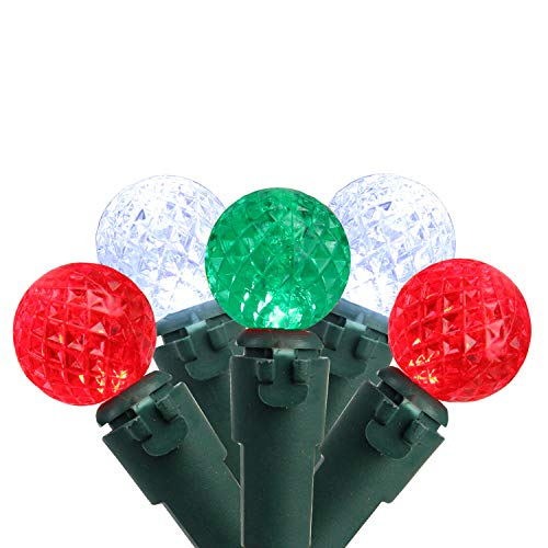 Brite Star Set of 50 Red, Pure White & Green LED G12 Berry Christmas Lights 4
