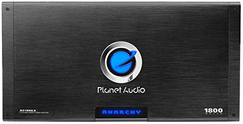 Planet Audio AC1800.5 Anarchy 1800 Watt, 5 Channel, 2/4 Ohm Stable Class A/B, Full Range, Bridgeable, MOSFET Car Amplifier with Remote Subwoofer Control ()