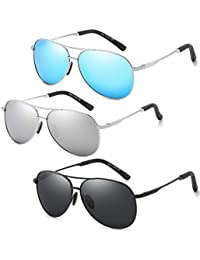 Polarized Classic Aviator Sunglasses for Men and Women...