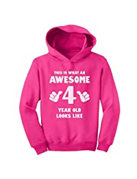TeeStars - This Is What an Awesome 4 Year Old Looks Like Funny Toddler Hoodie