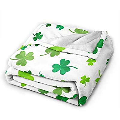 Foruidea St Patrick's Day Clover Blanket as Bedspread/Coverlet/Bed Cover Soft, Lightweight, Warm and Cozy 40x50 inch for Boys Girls : Garden & Outdoor