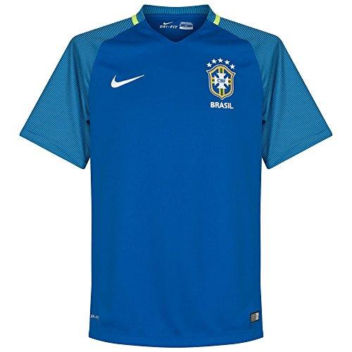 Nike Brazil Away Stadium Soccer Jersey (X-Large) Blue
