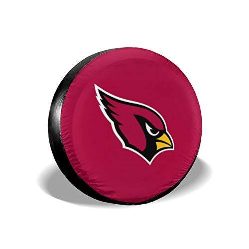 Sorcerer Design Colorful Waterproof Tire Cover Arizona Cardinals American Football Team Unisex Protection Spare Covers Storage Wheel Cover for Car Off Road Truck