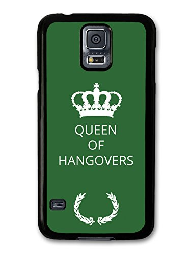 New Funny Queen of Hangovers Gift Idea on Green Design coque pour Samsung Galaxy S5
