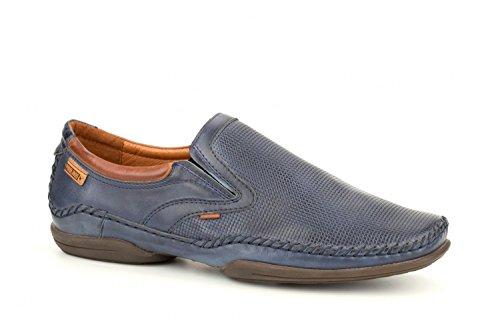 Pikolinos Slipper Puerto Rico 03A-3129 Leder Herren Schuhe Slip-On Blau