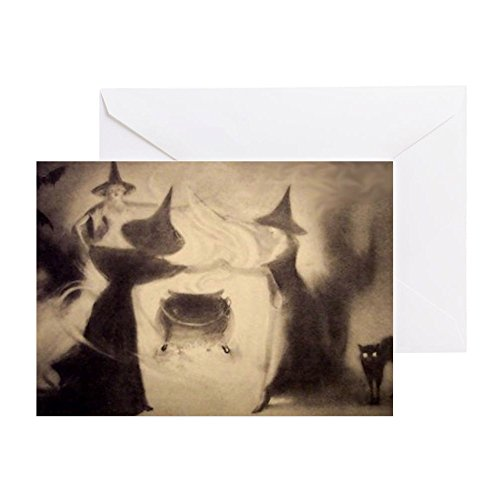 CafePress - Vintage Halloween Card - Greeting Card, Note Card, Birthday Card, Blank Inside Glossy