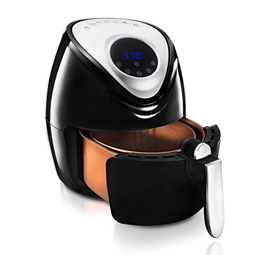 Gotham Steel Digital Air Fryer, 4 Quart Programmable Oilless Fryer with Nonstick Copper Coated Interior, Dishwasher Safe As Seen on TV