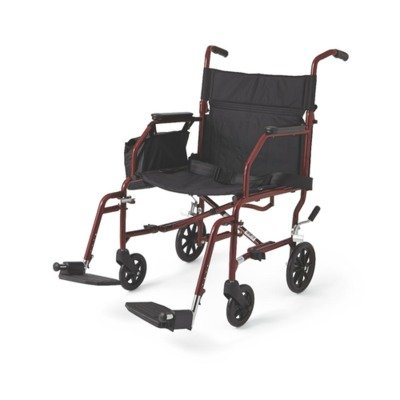 MDS808200W - Steel Transport Chair,F: 6 R: 8