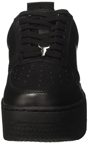 Collo Alto Leather Windsor Nero a Racerr Donna Leather Sneaker Smith Black wY4qZXa4H