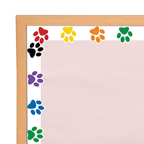 Fun Express Paw Print Bulletin Board Borders | 12 Count | Great for Children's Parties, Classroom Decorations, and School Activities]()