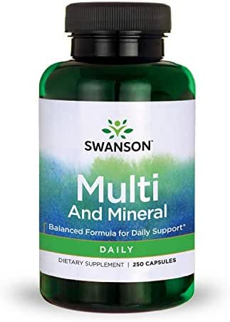 Swanson Multi and Mineral, Daily 250 Capsules
