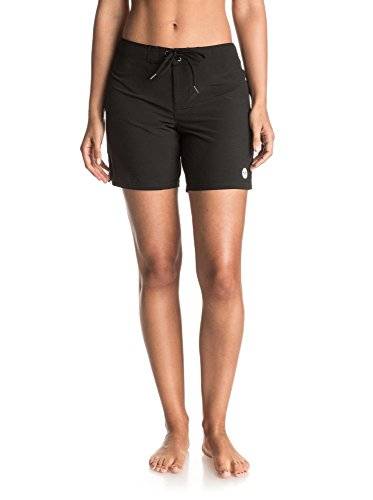 Roxy Women's to Dye 7 inch Boardshort, True Black, M