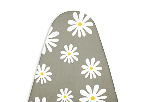 Encasa Homes Premium Ironing Board Cover with Thick Felt Pad (Fits Wide Boards 18''x49''), Daisy Grey by Encasa Homes