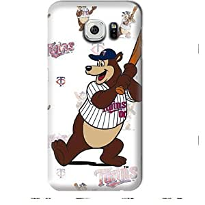 S6 Edge Case, MLB - Minnesota Twins - T.C. Bear - Repeat Distressed - Samsung Galaxy S6 Edge Case - High Quality PC Case