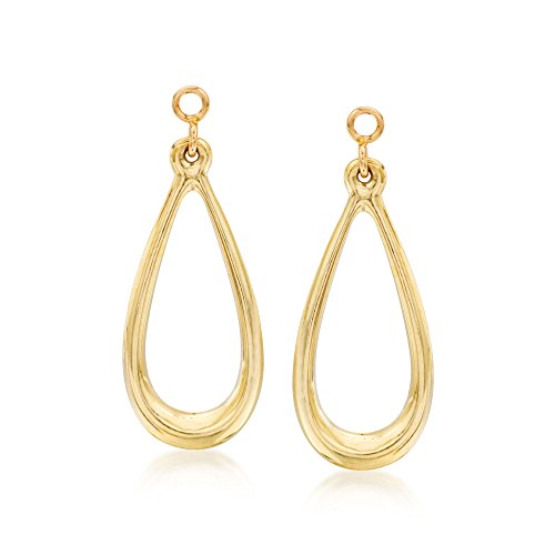 Ross-Simons 14kt Yellow Gold Open Teardrop Earring for sale  Delivered anywhere in USA
